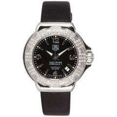 TAG Heuer Ladies Formula 1 Stainless Steel Diamond Bezel Quartz Watch WAC1214