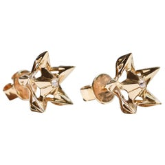 Helix Diamond Gold Stud Earrings