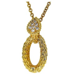 Boucheron Diamonds Serpent Boheme 18 Karat Yellow Gold Necklace