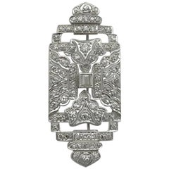 1930s Art Deco Diamond Platinum Brooch
