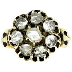 Georgian Diamond Cluster Gold Ring