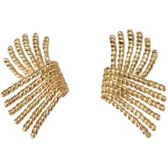 Tiffany & Co. Schlumberger Gold Rope Earrings