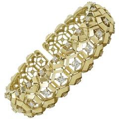 Maria Canale 18 Karat Yellow Gold Diamond Cuff Bracelet