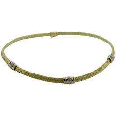 Diamond Flexible Collar in 18 Karat Yellow Gold