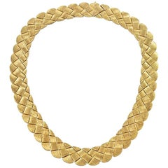Henry Dunay 1990s Basketweave Necklace