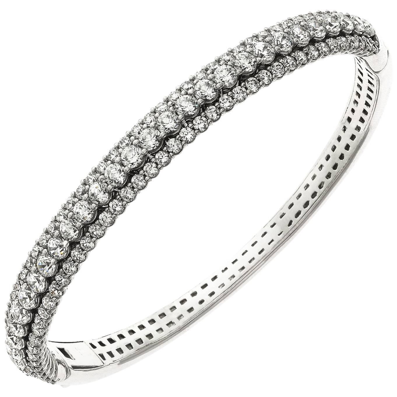 Emilio Jewelry 7.50 Carat Diamond Bangle Bracelet