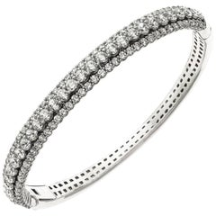 Emilio Jewelry 7.50 Carat Diamond Bangle Bracelet