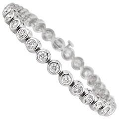 Mark Broumand 6.25 Carat Round Brilliant Cut Diamond Bracelet