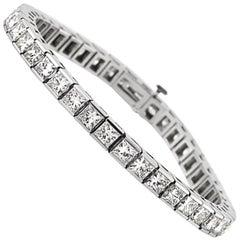 Mark Broumand 15.35 Carat Princess Cut Diamond Bracelet