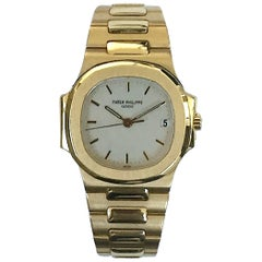 Patek Philippe Yellow Gold Nautilus Automatic Wristwatch