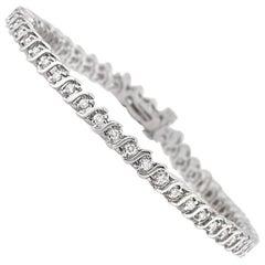 Mark Broumand 1.10 Carat Round Brilliant Cut Diamond Bracelet