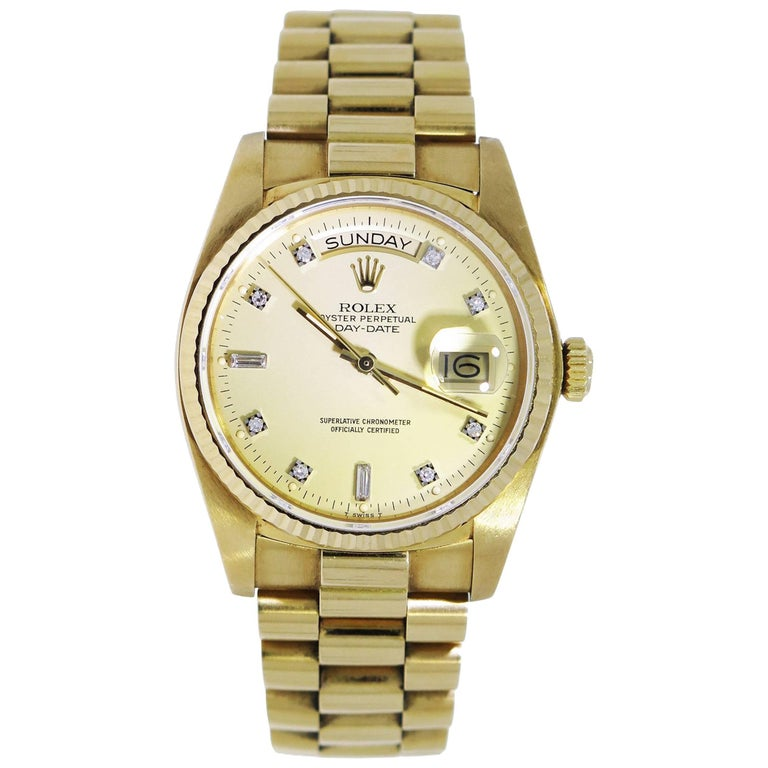 Rolex Yellow Gold Presidential Day-Date self-winding Wristwatch