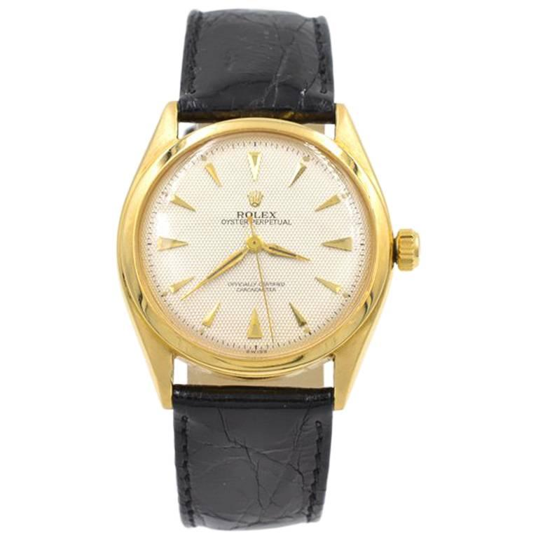 Rolex yellow Gold Oyster Perpetual Wristwatch Ref 6084, circa 1962