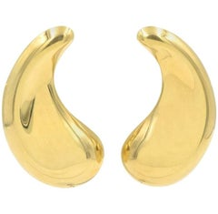 Elsa Peretti for Tiffany & Co. 18 Karat Gold Paisley Teardrop Earrings