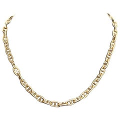Hermes Chaine D'Ancre 18 Karat Yellow Gold Necklace