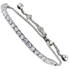 Diamond Tennis White Gold Bracelet