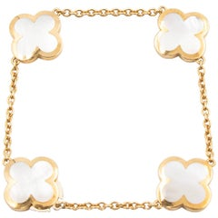 Van Cleef & Arpels Pure Alhambra Bracelet, 18 Karat Gold and Mother-of-Pearl