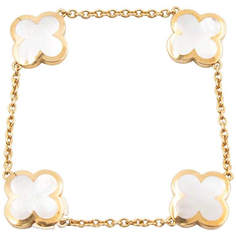 Van Cleef & Arpels Pure Alhambra Bracelet, 18 Karat Gold and Mother-of-Pearl