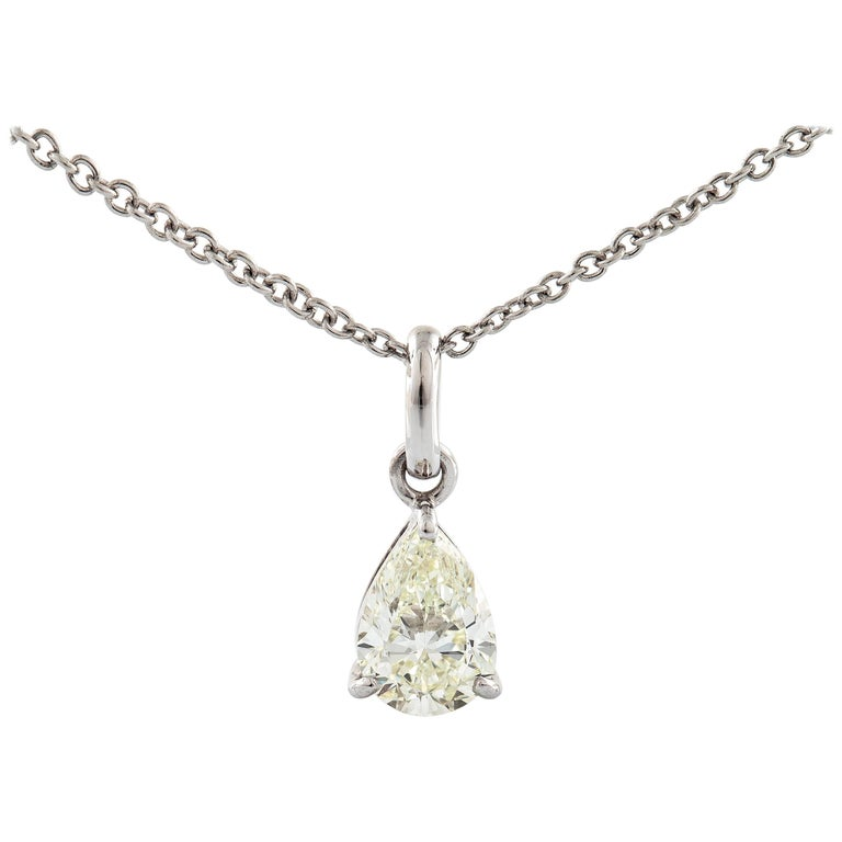 18 Karat White Gold Brilliant Cut Diamond Necklace