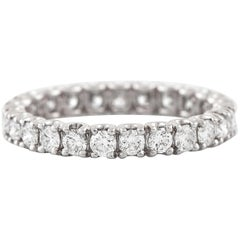 Brilliant Cut Diamonds 18 Karat White Gold Ring