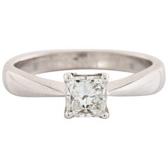18 Karat White Gold Brilliant Cut Diamond Ring