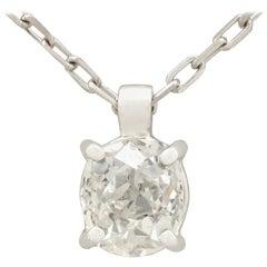 Antique and Contemporary Diamond Platinum White Gold Pendant