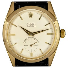 Rolex Yellow Gold Oyster Precision Veriflat Manual Wristwatch Ref 6512