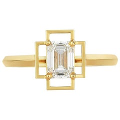 Zoe & Morgan Holos 18 Karat Yellow Gold Diamond Engagement Ring