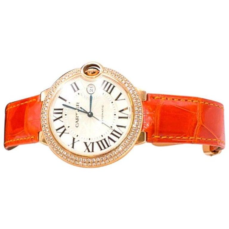 Cartier Ladies Yellow gold Diamond Ballon Bleu Wristwatch