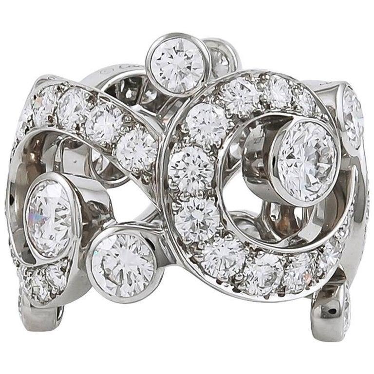 Cartier Diamond Open Work Ring