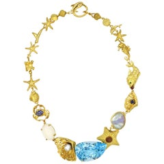Renato Cipullo 75 Carat Blue Topaz Return to the Sea Necklace