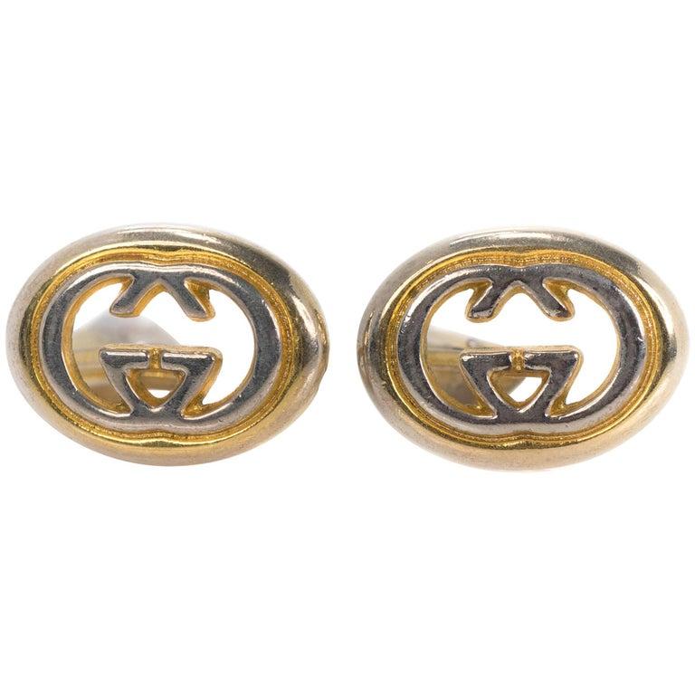 1960s Gucci Two-Tone Cufflinks