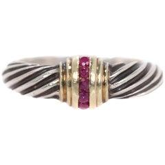 David Yurman Ruby Two-Tone Ring