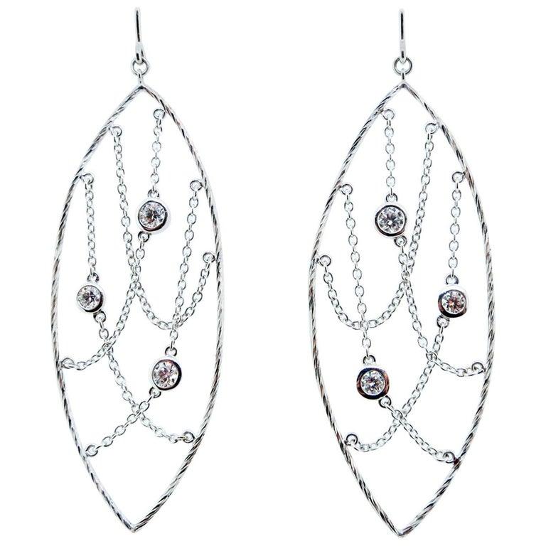 Hearts on Fire 18 Karat Diamond Chandelier Earrings