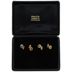 Schlumberger Tiffany & Co. Malachite Cornucopia Cufflink Set