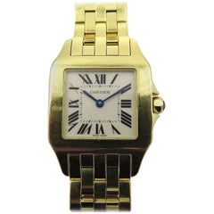 Cartier yellow Gold Santos Demoiselle quartz Wristwatch