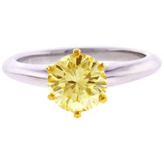 Tiffany & Co. 1.44 Carat Yellow Diamond Engagement Ring