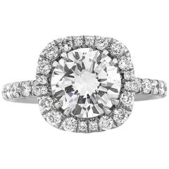 Mark Broumand 3.11 Carat Round Brilliant Cut Diamond Engagement Ring