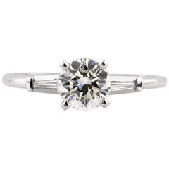 Mark Broumand 1.17 Carat Round Brilliant Cut Diamond Engagement Ring