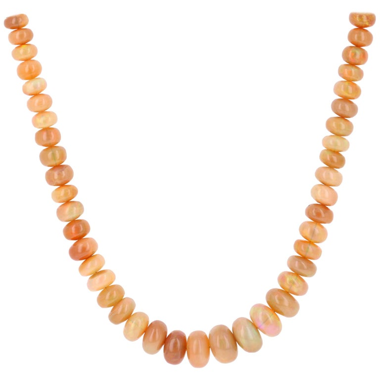 127.00 Carat Ethiopian Opal Necklace