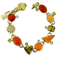 "Magnificent Gemstone Bracelet ""Sun Kissed"""