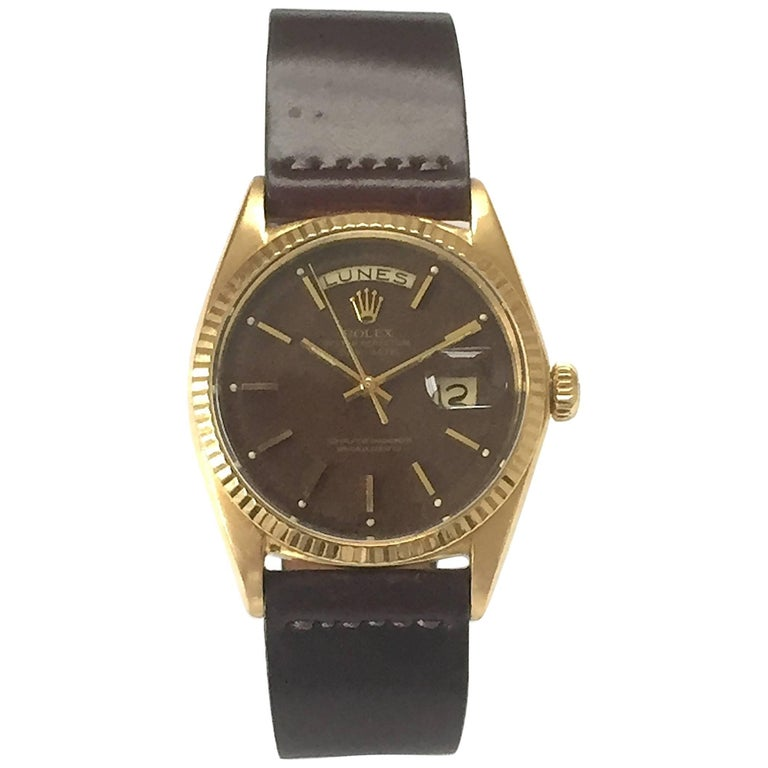 Rolex Yellow Gold Day-Date President Confetti Dial Automatic Wristwatch, 1960s