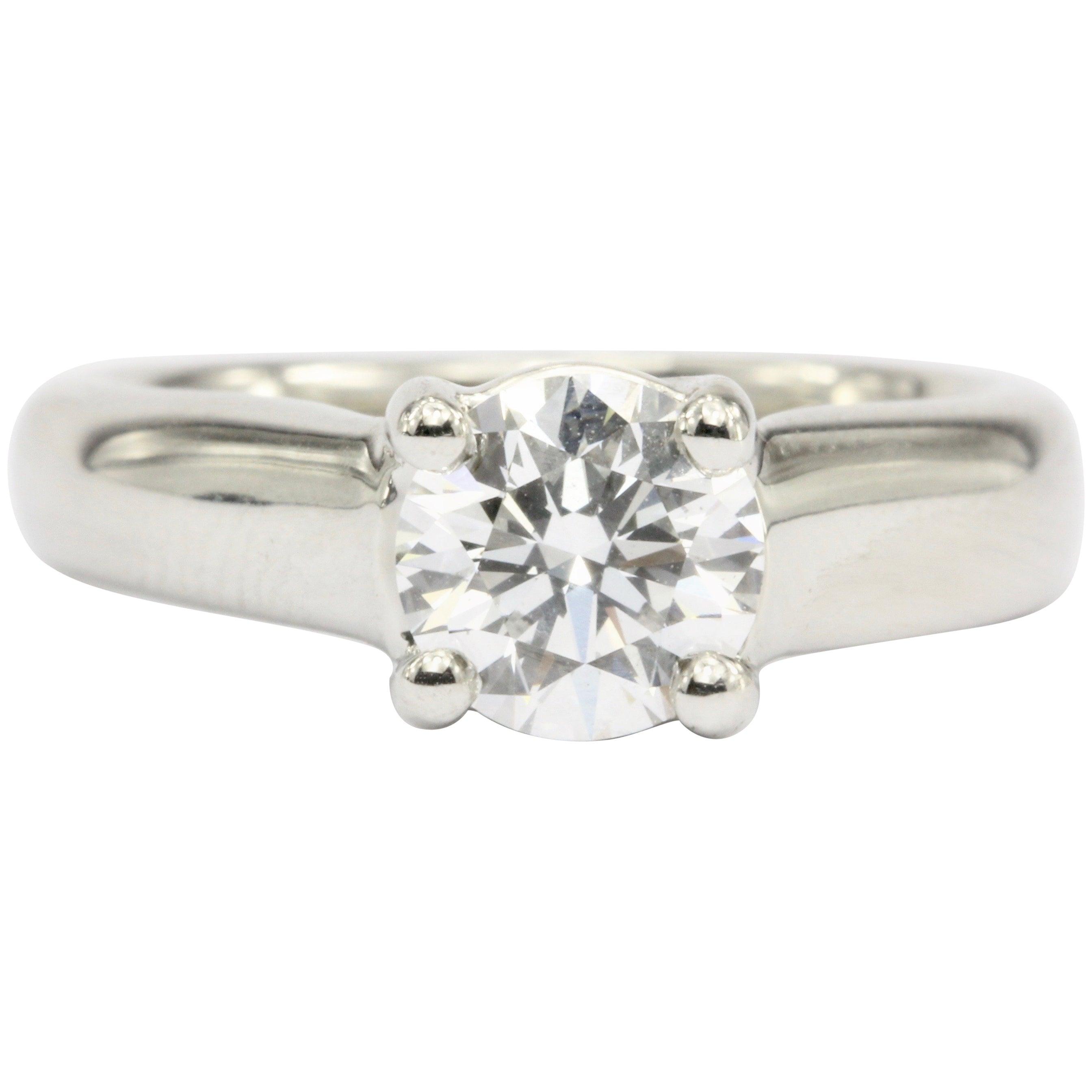 827b252d4b3 Platinum 1.12 Carat D/VS2 Round Brilliant Diamond Solitaire Engagement Ring