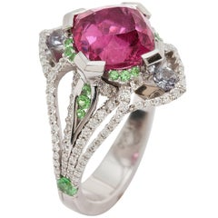 Ryan Roberts, Platinum and Rubellite Tourmaline Ring