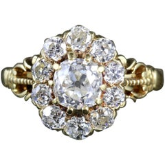 Antique Victorian Diamond Cluster Ring 18 Carat Cluster Ring, circa 1880