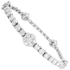 White Gold and Diamonds Van Cleef & Arpels Tennis Bracelet