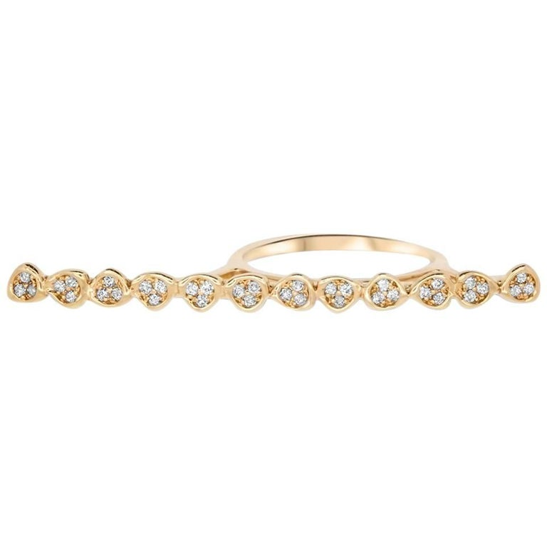 0.21 Carat Diamond Bar Ring