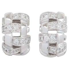 Tiffany & Co. Lattice Diamond Earrings