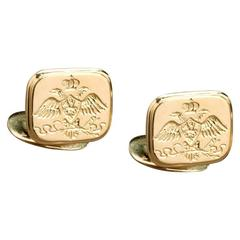 Nicholas I Romanov Eagle Gold Cufflinks by Marie E. Betteley
