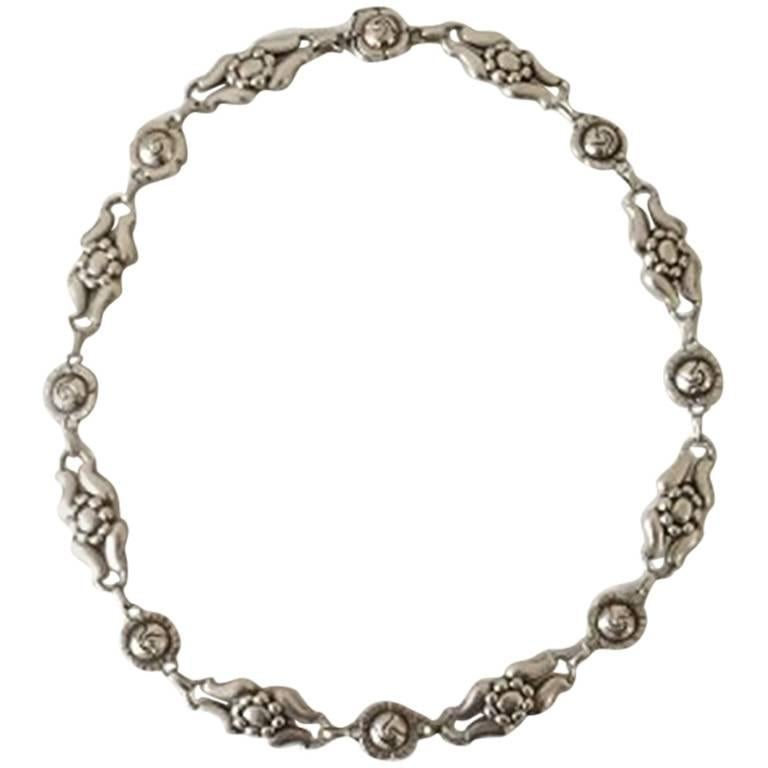 Georg Jensen Sterling Silver Necklace No 10